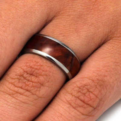 Exotic Coolibah Wood Ring In Titanium Band-3217 - Jewelry by Johan