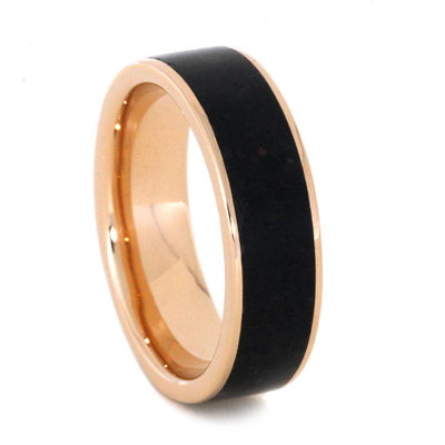 14k Rose Gold Wedding Band With Genuine Dinosaur Bone-3167 - Jewelry by Johan