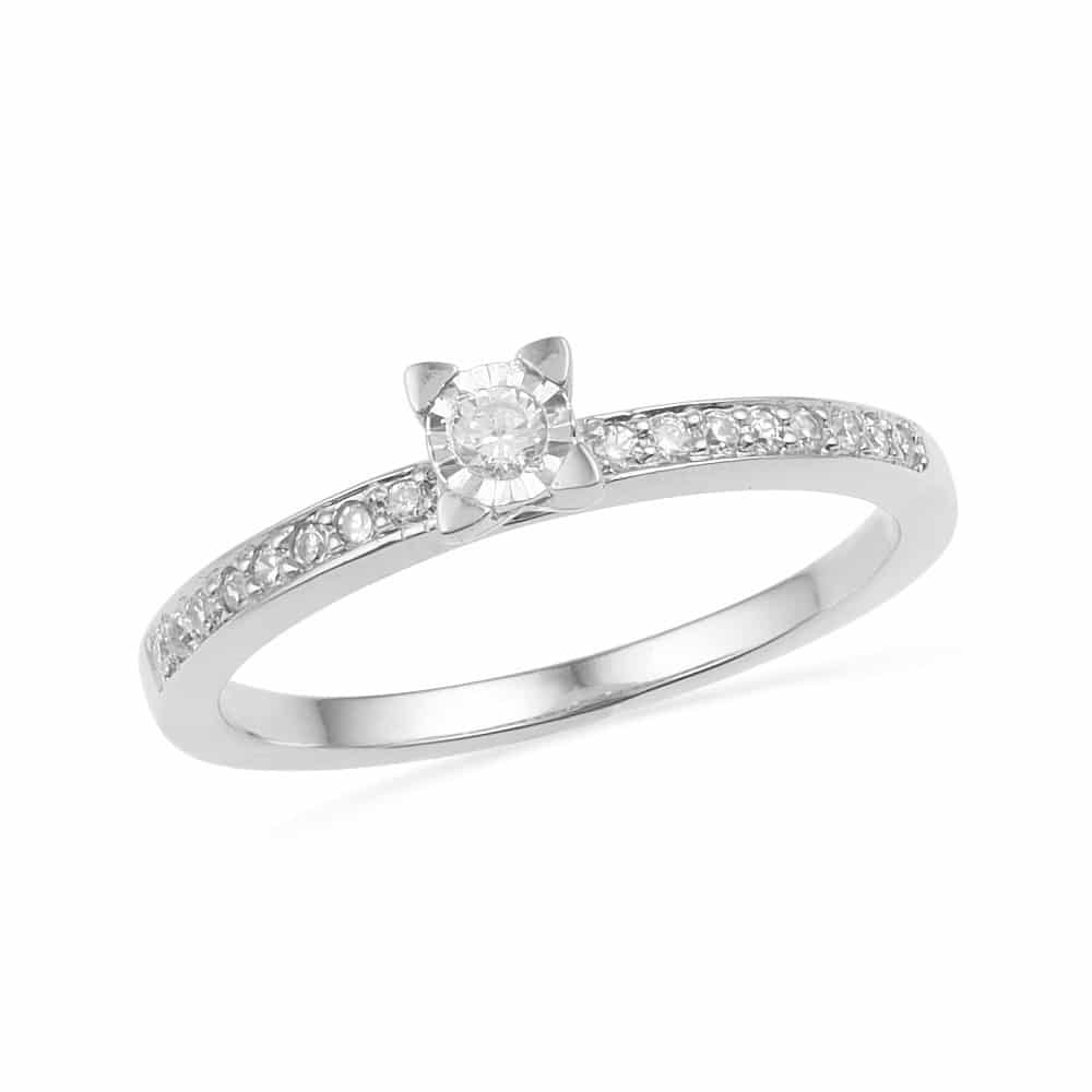 Sterling Silver Diamond Engagement Ring-SHRP014931CTP-SS - Jewelry by Johan
