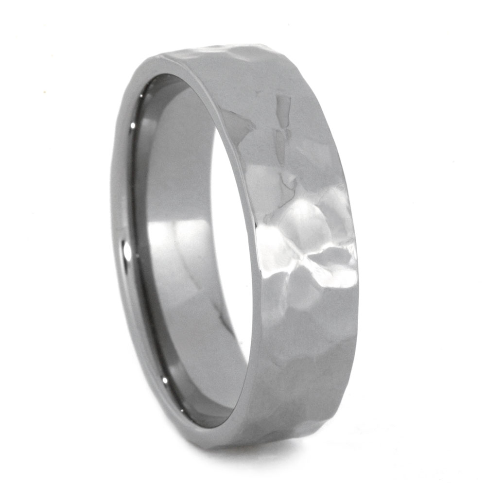 Hammered Titanium Ring, Size 13-RS10473 - Jewelry by Johan
