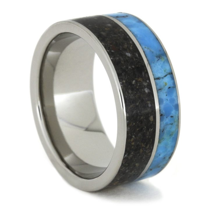 Turquoise and Ashes Memorial Ring-1286 - Jewelry by Johan