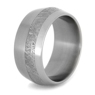 Wedding Band with Titanium
