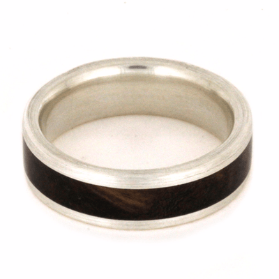 Sterling Silver Ring with Sindora Wood Inlay-2260 - Jewelry by Johan