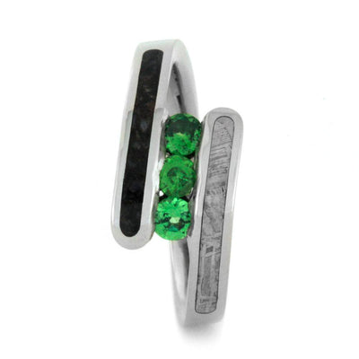 Green Garnet Engagement Ring