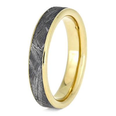 Thin Yellow Gold Meteorite Wedding Band-3627 - Jewelry by Johan