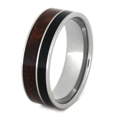 Titanium Azelia and African Black Wood Ring (3)