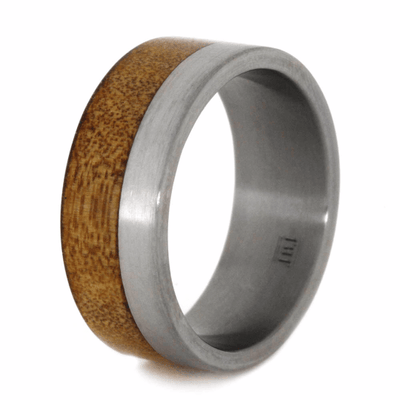 Kauri Wood Ring With Titanium Band (3)