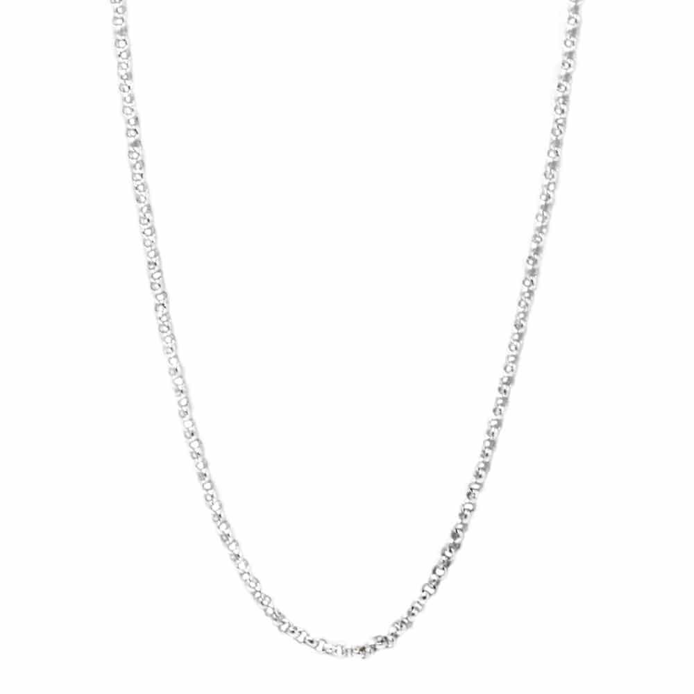 Sterling Silver Rolo Chain Necklace With Spring Ring-CH439
