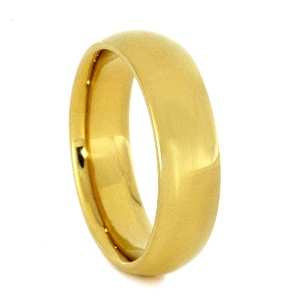 18k Gold Ring, Yellow Gold Wedding Band, Custom Ring - Jewelry by ...