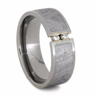 Diamond Meteorite Ring, Tension Set Ring-2058 - Jewelry by Johan