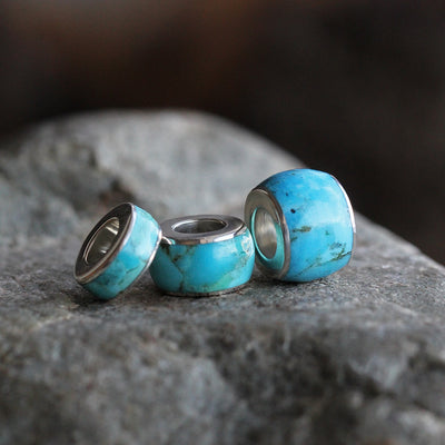 Genuine Turquoise Charm Bead, Made to Order-2295 - Jewelry by Johan