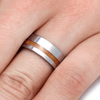 Whiskey Barrel Ring in Tungsten-2182 - Jewelry by Johan