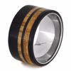 Titanium Ring With Oak Wood and Blackwood Pinstripes (3)