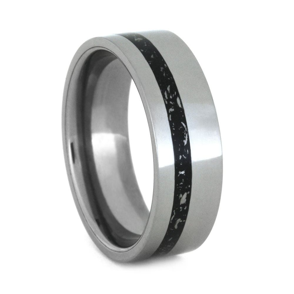 Black Stardust™ Wedding Band Made In Tungsten, Size 11-RS9180 - Jewelry by Johan