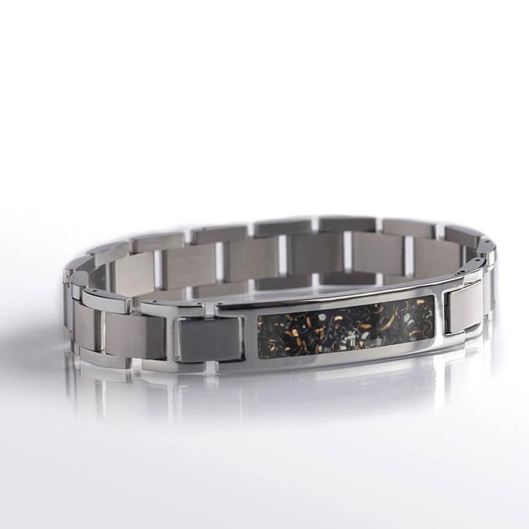 Rose Gold Stardust™ Stainless Steel Modular Bracelet-BR1001-1 - Jewelry by Johan