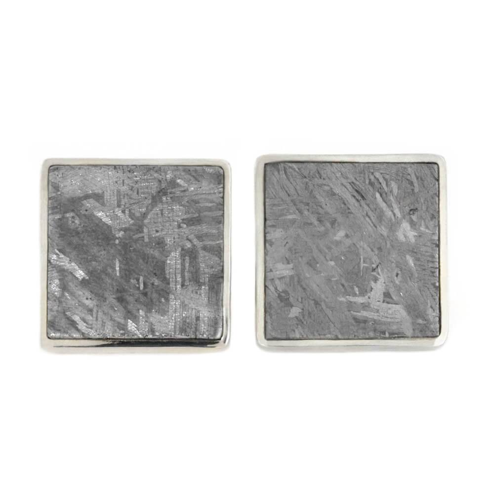 Square Cuff Links with Gibeon Meteorite, In Stock-SIG3055 - Jewelry by Johan