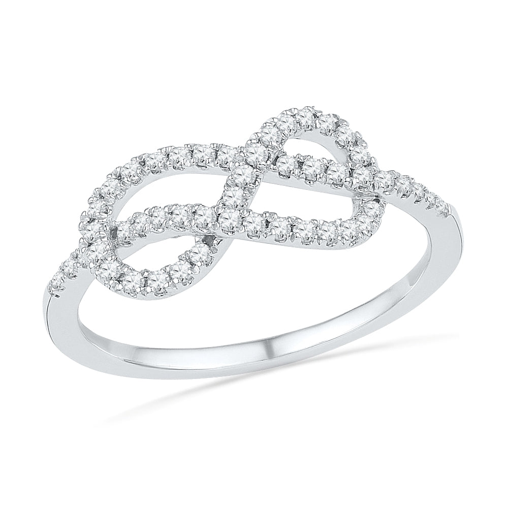 Diamond Infinity Band or Anniversary Ring, Silver or Gold-SHRF016542EAW - Jewelry by Johan