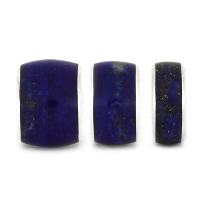 Lapis Lazuli Bead In Sterling Silver, Stone Bead For Snake Bracelets-2338