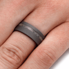Sandblasted Titanium Ring With Sand (5)