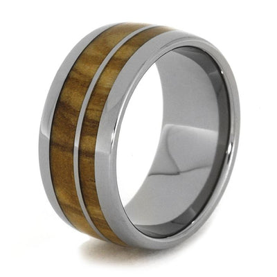 Olive Wood Titanium Edges Round(3)