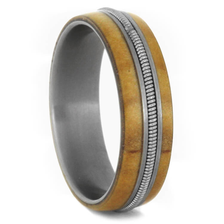 Guitar Ring Rowan Wood Wedding Band Size 8RS9265 Jewelry by Johan
