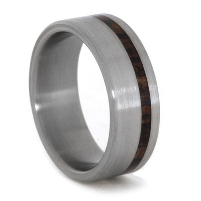 Titanium Wedding Band With King Wood Stripe-1832 - Jewelry by Johan