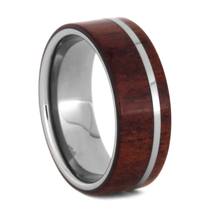 Honduran Rosewood Wedding Band In Tungsten, Size 9-RS9259 - Jewelry by Johan