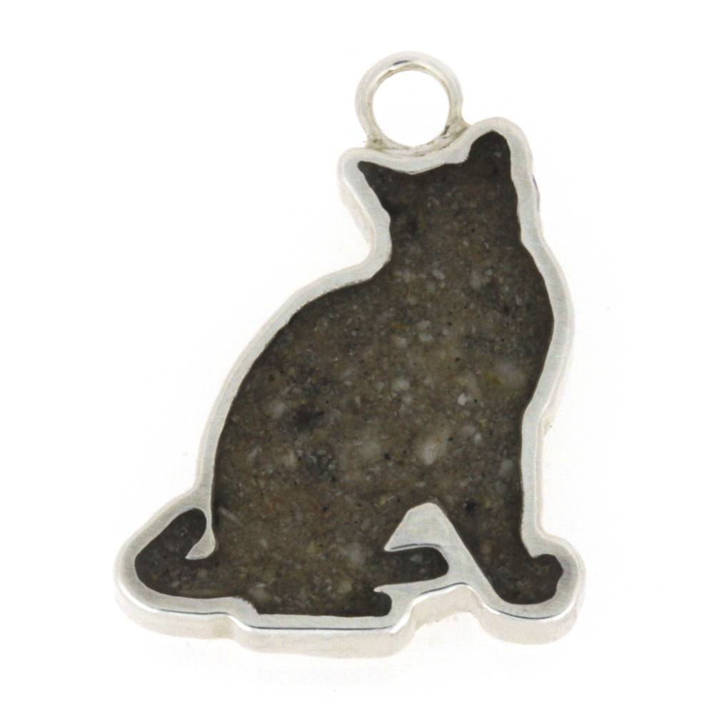 Cat Pendant, Pet Memorial Necklace, Pet Pendant with Ash-3270 - Jewelry by Johan
