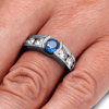Blue Sapphire Engagement Ring with 10k White Gold-2183 - Jewelry by Johan