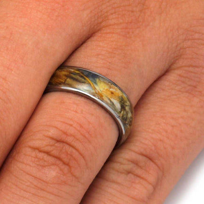 Flower Ring, Titanium Ring With Flower Petals-3218 - Jewelry by Johan