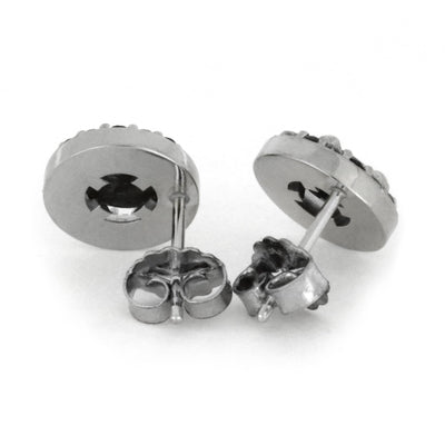 Black White Diamond Meteorite_Earrings(3)