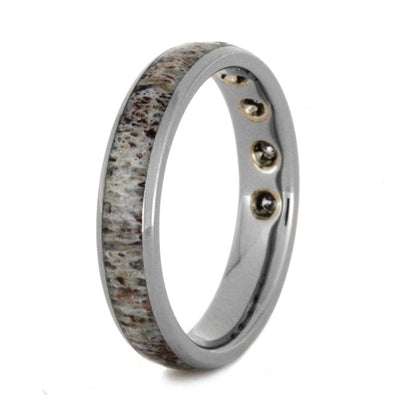 Deer Antler Wedding Ring with Diamonds-2968 - Jewelry by Johan