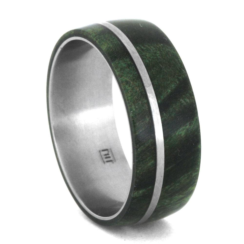 Titanium and Wood Ring, Size 11.5-RS8756 - Jewelry by Johan
