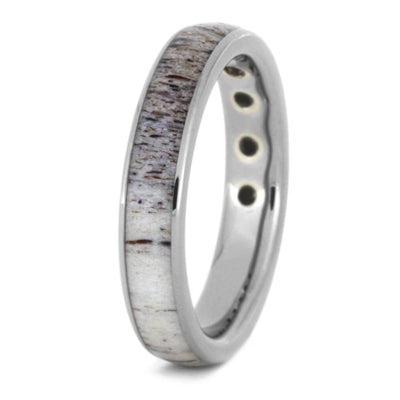 Titanium Wedding Band With Moissanites