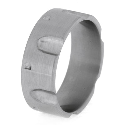 Revolver Ring, Titanium Band With Brushed Finish-3301 - Jewelry by Johan