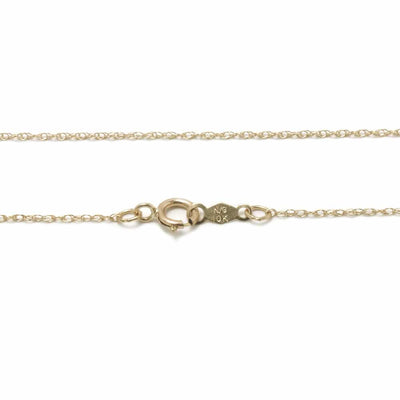 "16""- 18"" 10k Yellow Gold Rope Chain Necklace With Spring Ring-CH1028:1000:P - Jewelry by Johan"