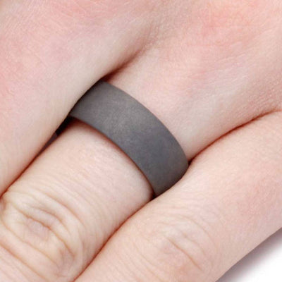 Unique Men's Ring with Wood