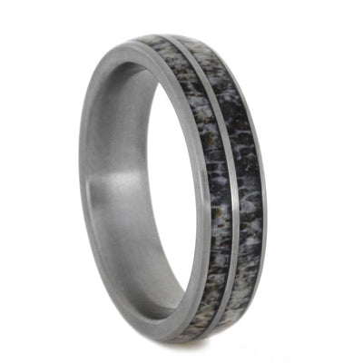 Natural Deer Antler Wedding Band For Women