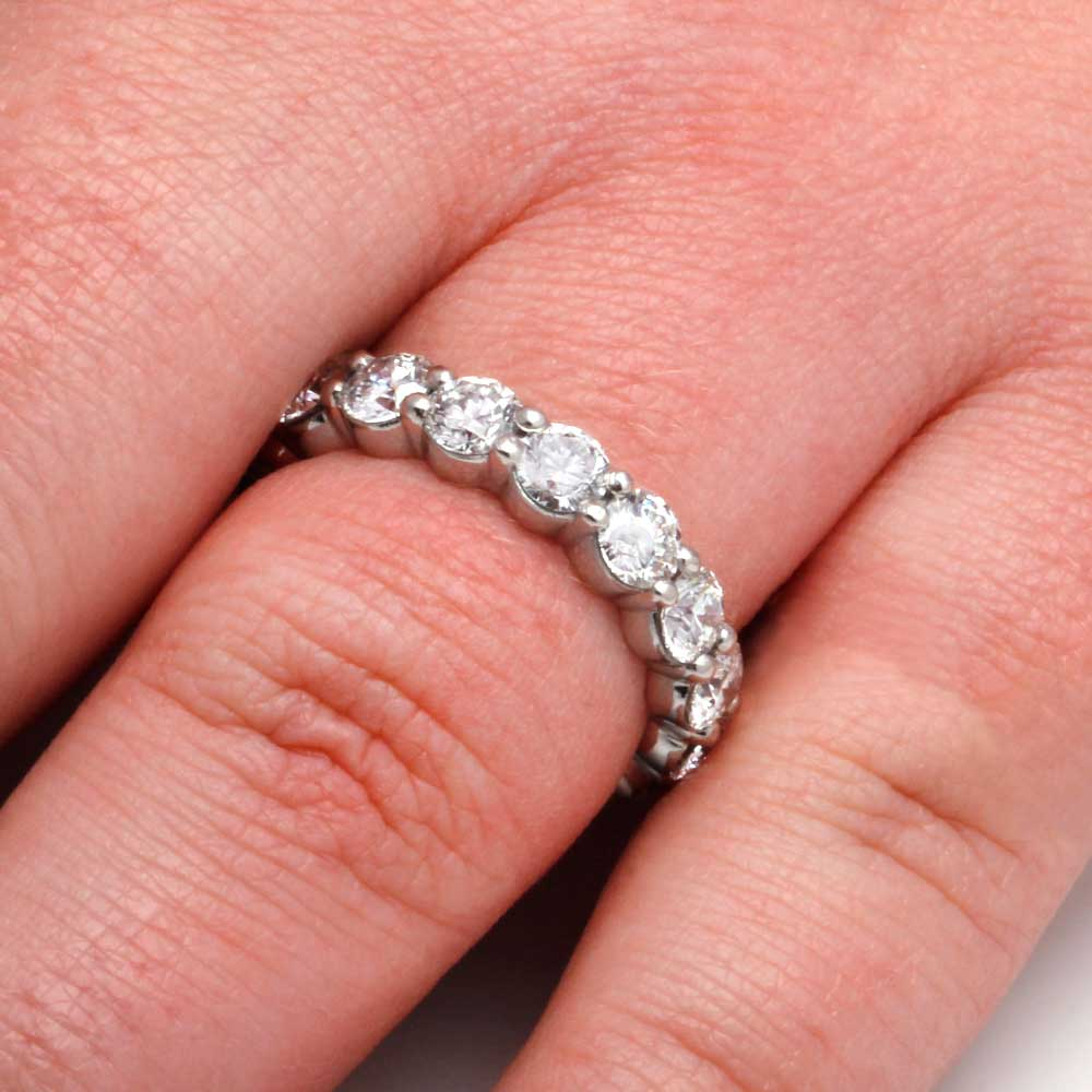 Platinum Diamond Eternity Band, Diamond Wedding Band-2996