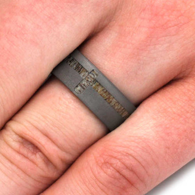 Men's Wedding Band with Sandblasted Finish