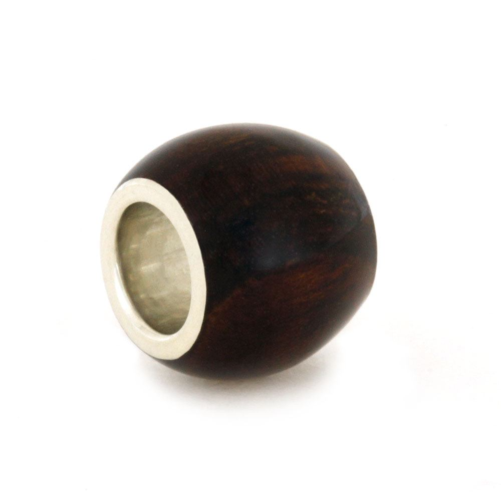 Honduran Rosewood Charm Bead, Sterling Silver And Wood Jewelry-RS9277 In Stock - Jewelry by Johan