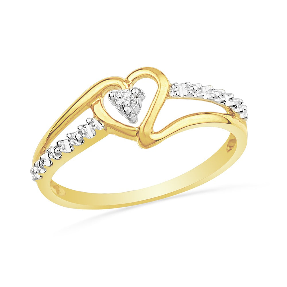 Diamond Heart Promise Ring in Yellow Gold-SHRH009618ATY-10K - Jewelry by Johan