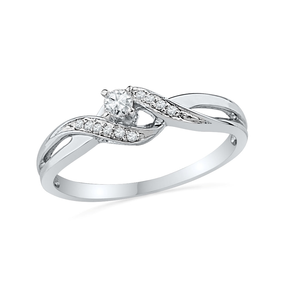 Sterling Silver Diamond Engagement Ring-SHRP026332CTW-SS - Jewelry by Johan