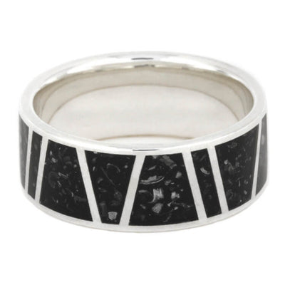 Stardust Wedding Ring With Meteorite