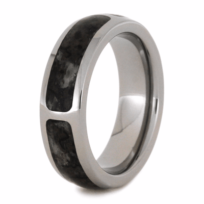 Sectioned Dinosaur Bone Titanium Wedding Band-2035 - Jewelry by Johan