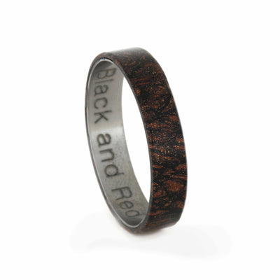 Black and Red Mokume