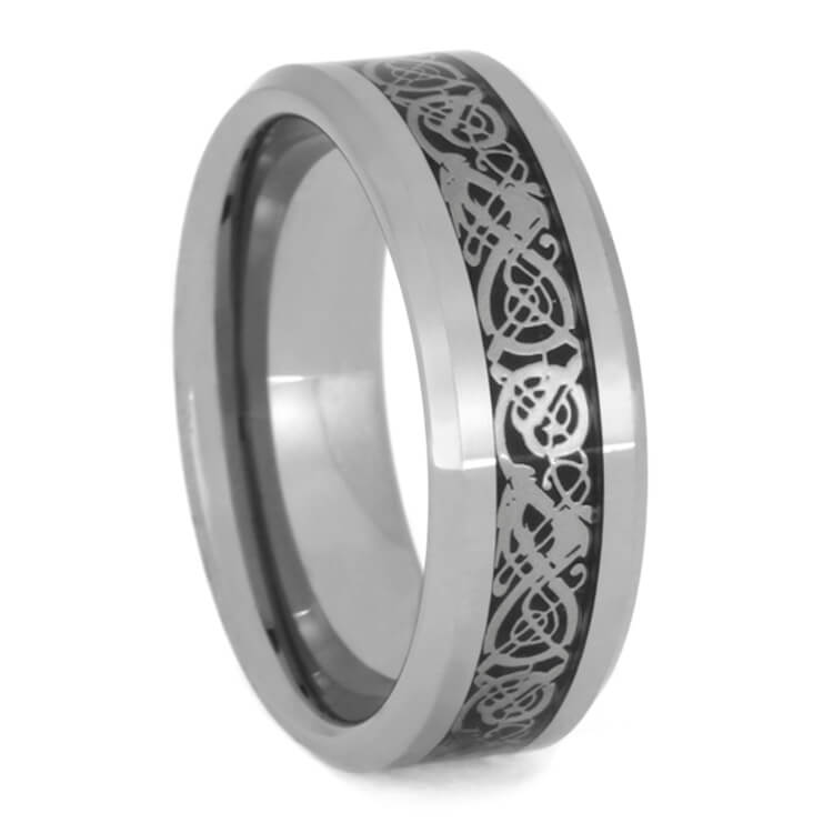 Men's Tungsten Ring With Infinity Dragon Pattern, Size 10.5-RS9830 - Jewelry by Johan