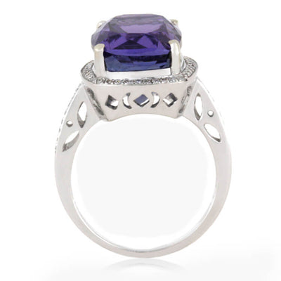 Tanzanite 14k White Gold Diamond_1587 (2)