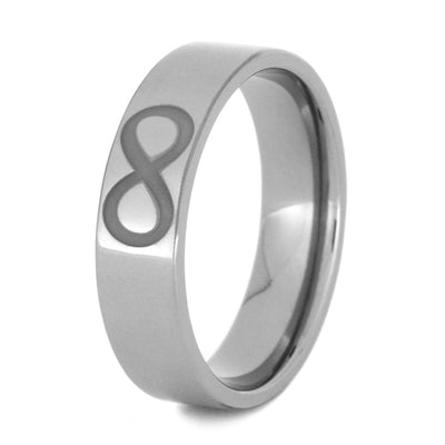 Titanium Engraved Ring With Jesus Fish, Infinity, And Trinity Symbols-3202 - Jewelry by Johan
