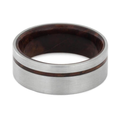 Men's Wedding Band with Rosewood